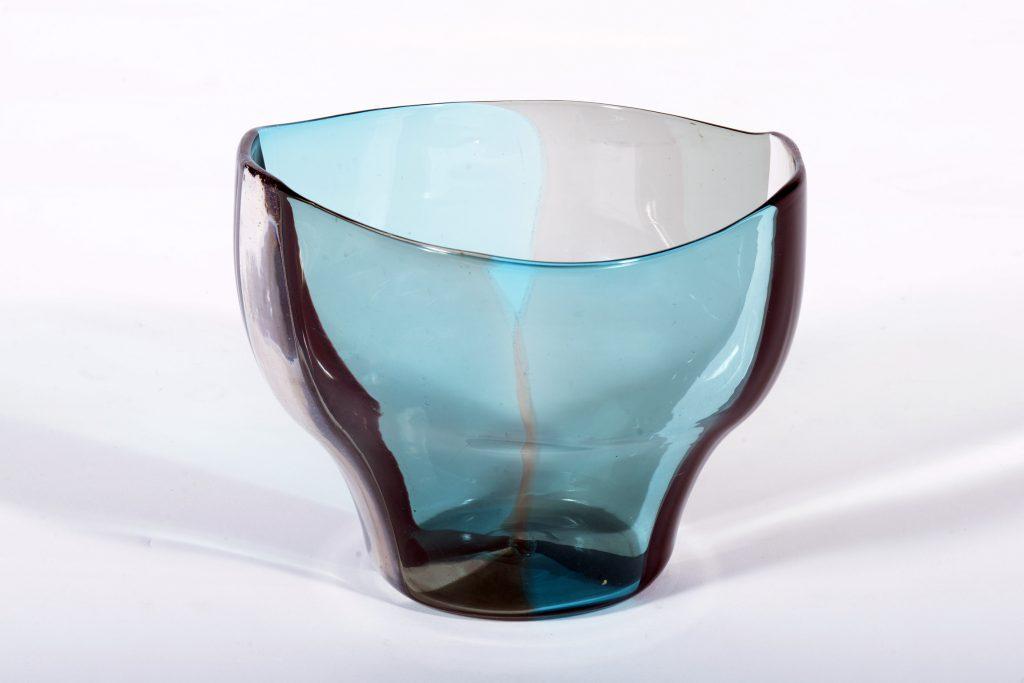 """VENINI Fulvio Bianconi Murano Glass """"A Spicchi """" serie Vase Mid century 1950"""