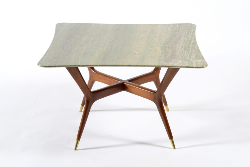 Mid Century Modern Italian Cooffe table marble top 1950. Tavolo basso 1950 Image