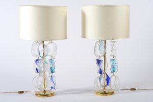 Coppia lampade da tavolo vetro di Murano Image