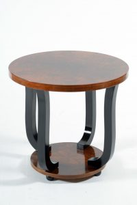 Art Deco Italian round side table ,1930